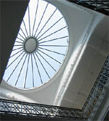 Skylight at the top of the Ashton stairwell